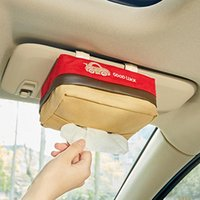Wholesale Car Tissue Storage Box Sun Visor Hanging Sunroof Seat Multi Function Creative Tissue Cover