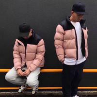 ingrosso rosa parkas-19W Luxury European Pink Down Jacket Fashion Parka caldo di alta qualità Coppia Coppie Cappotti firmati da uomo da donna HFKYRYF003