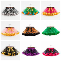Wholesale blouses for kids resale online - 2 years baby girls tutus for halloween christmas polka dots skeleton goast printed toddler kids girl tutu skirts children holidays makeup