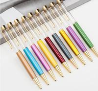 ingrosso penna a cristallo del diamante dello stilo-DHL Blank Bling Bling 2-in-1 Slim Crystal Diamond Penne a sfera glitter Stylus Touch Pen penne fai da te 13 colori SN2601