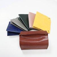 ingrosso carta di tovagliolo di colore-Portasciugamani di carta in pelle di decimazione Asciugamano per la casa Scatole di tessuto per veicoli Scatola di tovaglioli di semplicità con vari colori 10 5yy J1