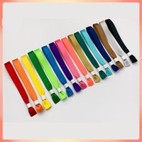 Wholesale gold testing supplies resale online - 50pcs Pure silk band bracelet wristband disposable polyester woven wristband rope party entry pass Conference activities admission test driv