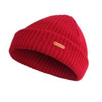 stricken trapper hüte großhandel-1 Stücke Hut Casual Mützen für Männer Frauen Warme Gestrickte Wintermütze Fashion Solid Hip-Hop Beanie Unisex Kappe