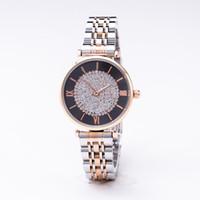 ingrosso orologi farfalla blu-2019 Luxury Brand Watch Lady AR Butterfly Buckle 34 millimetri in oro rosa quadrato stella diamante acciaio cinturino in acciaio orologio da regalo rosa blu