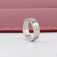 Wholesale couple ring resale online - New Luxury Designer Jewelry Women Rings Mens Jewelry Engagement Wedding Rings Love Diamond Titanium Steel Ring