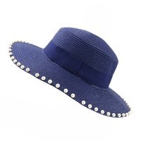 8f905efce9332 Wholesale decorating straw hats online - Summer Women Paper Straw Flat Top Sun  Hats Wide Brim