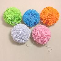 esponjas de chuveiro de malha venda por atacado-Atacado-2pcs New Bath / Shower Corpo Esfoliar Puff Sponge Mesh EVA Bola De Banho Colorida TB Venda LX6493