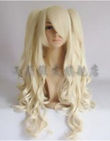 Wholesale lolita ponytail wig resale online - Wig Lolita Cosplay Wig Pale Blonde Lolita Hair High Temperature Wire Clip Ponytail