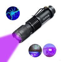 tragbare taschenlampen großhandel-3W WF-501B CREE UV LED Taschenlampe Lila Licht UV 395-410nm UV-Taschenlampe Lampe Tragbare Laterne Linternas Geld Fleckendetektor