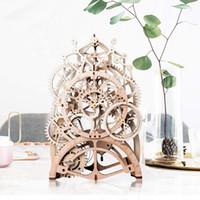 Wholesale mechanical clock kits for sale - Group buy Vintage Home Decor DIY Crafts Wooden Pendulum Clock Model Kits Decoration Mechanical Wall Watch Gear Clockwork for Gift