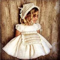 kinder formale hüte großhandel-Ohne Hut Mädchen Sommer Blume Spitze Hochzeitswettbewerb Party Kleider Prinzessin Formale Abendkleider Größe Neue Kind Mädchen Kleidung Ws507