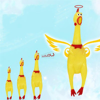 Wholesale clapper toy online - Screaming Chicken Squeeze Sound Toy Pets Toy Product Dog Toys Shrilling Decompression Tool Funny Gadgets cm cm cm