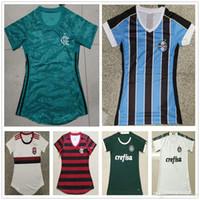senhoras futebol futebol venda por atacado-2019 2020 Mulheres Grêmio Jerseys Casa Azul Palmeiras Verde Branco 19 20 CR Flamengo Vermelho Mulher Senhora Menina Personalizar Camisa De Futebol