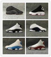 altitude 13 venda por atacado-Melo Classe de 2002 13s Mens Basketball Shoes 13 Ele Tem Jogo Altitude Black Cat Chicago Playoff Fantasma Hiper Esportes Reais Tênis 7-13