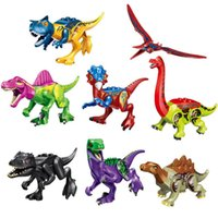 Wholesale toy assembling for sale - Group buy New colorful dinosaur Tyrannosaurus Sword Dragon Spinosaurus Thunder Dragon Jurassic assembled dinosaur blocks Kids toys DHL