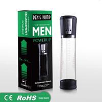bombas de vácuo homens venda por atacado-Bomba de Pénis Automática elétrica USB Recarregável Pênis Alargador Bomba de Vácuo Poderoso Ampliação Do Pénis Extensor Brinquedos Sexuais para Homens