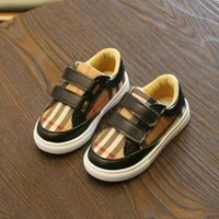 Wholesale new style boys shoes resale online - New Korean Of The Color Grid Shoes Boys Fashion Style Board Shoes Students Lightweight Girls Casual Shoes Kids Sneakers