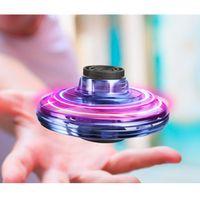 ufo motor toptan satış-3 Renkler FlyNova UFO Fidget Spinner Çocuk Yetişkin Taşınabilir Uçan 360 ° Döner Shinning LED Işıklar Yayın Noel Oyuncak Hediye Drop Shipping ben L532
