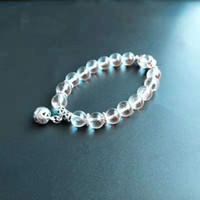 Wholesale sterling bracelet china resale online - Natural Opal Stones Evil Crystal Black Onyx Single Layer Beaded Vintage Silver Bracelet Delicate Ball Transfer Beads