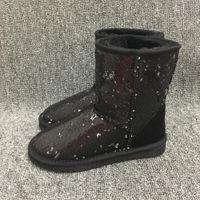 senhoras calções tamanho 14 venda por atacado-Mulheres da moda Botas de Neve Bling Sparkles Estilo Australiano Inverno Quente Curto Senhora Botas Marca Ivg Preto Plus Size US3-14