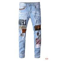 jeans sólidos venda por atacado-Designer Pants Marca jeans leves Jeans Moda Masculina Casual Sólidos clássico Hetero Denim Jeans de grife
