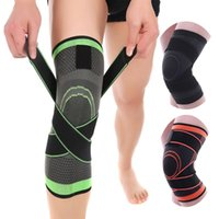 Wholesale elastic brace bandage resale online - 2019 Professional Knee Pad Sports Breathable Bandage Outdoor Elastic Knee Brace High Quality Kneepads For Basketball Baseball Cycling M3Y