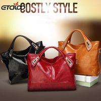 Wholesale wax oiled handbags for sale - Group buy Designer Oil Wax Leather Handbags High Quality Shoulder Bags Ladies Handbags Fashion brand PU women bags