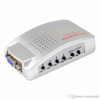 commutateur hdmi achat en gros de-Adaptateur PC vers TV VGA vers AV RCA Moniteur Convertisseur de signaux S-Vidéo Adaptateur Switch Box PC Laptop