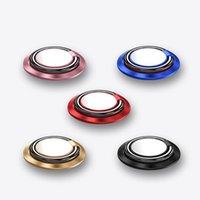 ручные стенды оптовых-Универсальный держатель телефона кольцо подставка палец подставка на 360 ° вращение металлическое кольцо рукоятка для магнитного автомобильного крепления для iPhone XS Max XR