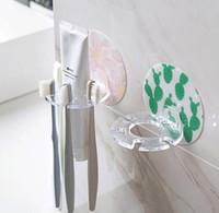 Wholesale plastic rack bathroom for sale - Group buy Plastic Toothbrush Holder Toothpaste Storage Rack Shaver Tooth Brush Dispenser Bathroom Wall Hanging Organizer Home Bathroom Toos GGA2253