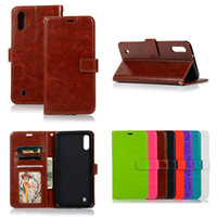 Wholesale xperia black case online – custom For Samsung Galaxy M10 M20 M30 A10 A20 A30 A40 A50 A70 Sony Xperia Huawei Y6 Y7 Y9 Crazy Horse Flip Wallet Leather Case Cover