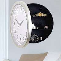 Wholesale hidden watches resale online - Wall Clock Shape Jewelry Boxes Money Watch Earring Hidden Storage Box White Home Decorative Creative Coffer Hot Sale wyD1
