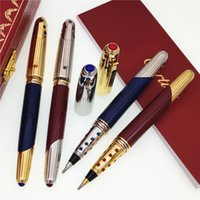 Wholesale new styles pens resale online - New style Luxury Pen Brand pens Promotion Price Roller ball Pen Best Quality Carties Brands pen gift Give velvet bags