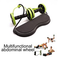 Wholesale muscles tools for sale - Group buy AB Wheels Roller Stretch Elastic Abdominal Resistance Pull Rope Tool AB Roller For Abdominal Muscle Trainer Exercise