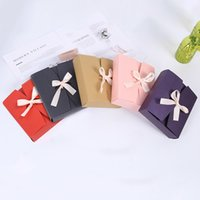 Wholesale gifts packaging ribbons resale online - 17cmx15cmx4 cm Vintage Retro Colorful Paper Box DIY Wedding Favor Gift Box Single Cake Box Packaging With Ribbon LX1791