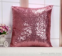 fundas de almohada de lentejuelas al por mayor-Fundas de colchón Glitter Sequin Throw Pillow Cases Cafe Fundas de cojines Asiento de coche Throw Pillow Case 40cmX40cm Funda de almohada de calidad superior DHL gratis