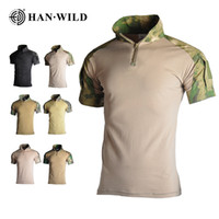 Wholesale combat jersey for sale - Group buy Camouflage Hunting Clothes Tactical Frog Suits High Elasticity Cycling Jerseys Military Uniform Paintball Airsoft Combat Shirt