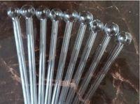acessórios de vidro bong venda por atacado-Atacado vidro acessórios para tubos de água, acessórios de vidro bong, estendido em linha reta para queimar panela de 15 cm, bolha é de 2 cm frete grátis, maior