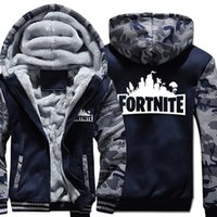 15e04b820bc7 Camouflage Mens Designer Winter Coats Teenager Clothing Fortnite Hooded  Thick Baseball Jackets
