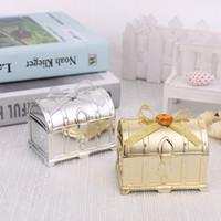 süßigkeit hochzeit bevorzugung boxen silber großhandel-Süßigkeit-Kasten Schatz-Kasten-Bevorzugungs-Kasten-Hochzeit Geschenkbox Gold und Silber Box für Hochzeit Baby-Geburtstags-Party