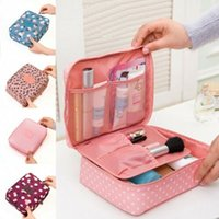 Wholesale ladies travel cosmetic bag case resale online - Ladies Travel Cosmetic Makeup Bag Fashion Rushed Floral Nylon Zipper New Women Makeup bag Cosmetic Toiletry Case Hanging
