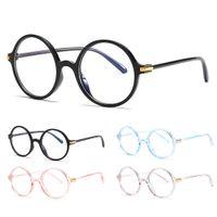 черные розовые очки рамы оптовых-Fashion Round Glasses Women Men Optical Clear Lens Glasses Frame Transparent Eyewear 2019 Vintage Black Pink Spectacles Eyeglass
