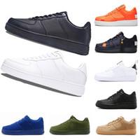 cut shoes al por mayor-Air force 1 AF1 Nike airmax one Fuerzas 2019 zapato 1 utilidad clásico negro blanco blanco Hombres Mujeres Zapatos casuales red uno Deportes Skateboarding High Low Cut Wheat Zapatillas de deporte