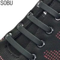 cordones elásticos para zapatillas de running. al por mayor-16pcs / Set de Ejecución n de lazada moda unisex zapato atlético elástico de silicona cordón de ajuste de la correa 12 COLORES 8