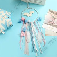 Wholesale toy network for sale - Group buy INS style pendant Flaky Clouds Dreamcatcher Feather Girl Catcher Network LED Dream Catcher Bed Room Hanging Ornament Cartoon Accessories