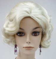 ingrosso bionde sexy calde-WIG MISS 002674 New Fashion Hot Sexy affascinante Monroe's Wavy Blonde donne parrucca capelli parrucche piene