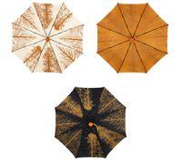 coloré imprimé coupe-vent en fibre de verre parapluie Semi automatique pliage parapluie
