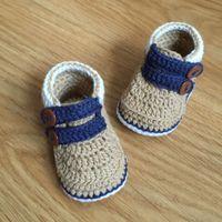 tığ bebek ayakkabıları bedava toptan satış-QYFLYXUE Ücretsiz kargo, CROCHET Bebek Sandalet, Benzersiz düğme ayakkabı Size8cm, 9 cm, 10 cm, 11 cm