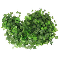 Wholesale artificial greens garlands resale online - 12pcs m Atificial Fake Hanging Plant Leaves Garland For Home Garden Wall Decoration Flower Planter Green Field