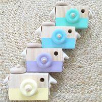 bilderrahmen für kindergarten großhandel-Holzkamera Bilderrahmen Spielzeug Ornamente INS Beliebte Europäischen Stil Kreative Dekoration Foto Requisiten Kinderzimmer Dekor